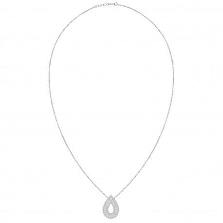 Hollow Pear Shaped Luxury Diamond Pendant
