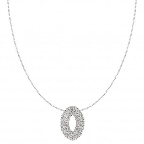 Hollow Oval Shaped Luxury Diamond Pendant