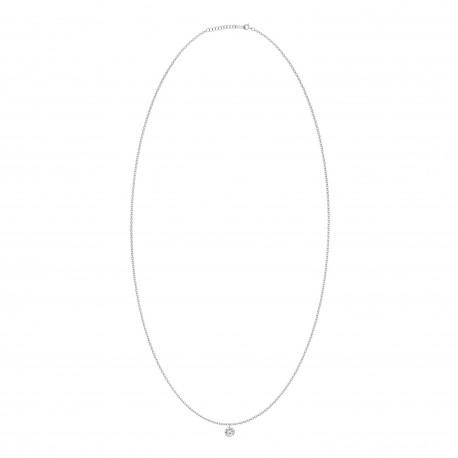 Single Laser Hole Diamond Necklace