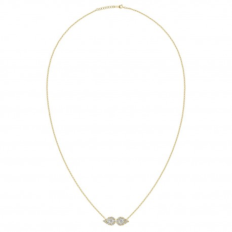 """""""Wings"""" Double Pear Shaped Diamond Necklace"""