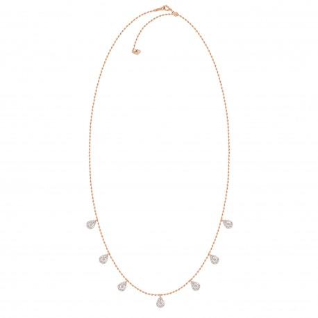 Diamond Drop Pressure Setting Station Necklace(Large)