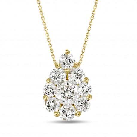 Diamond Pear shaped Necklace(Medium)