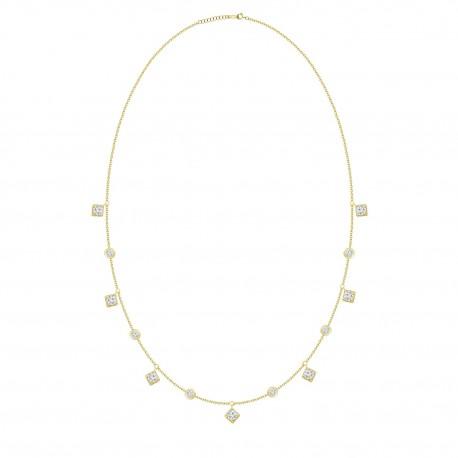 Diamond Station & Dangling  Necklace