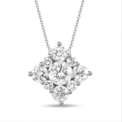 Diamond Square shaped Necklace(Small)