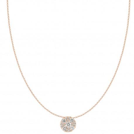 Round Illusion Diamond Necklace