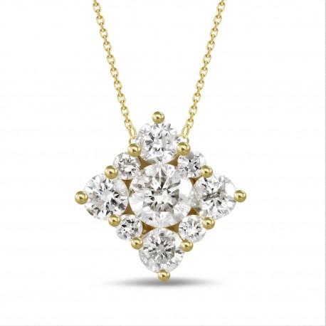 Diamond Square shaped Necklace(Small)