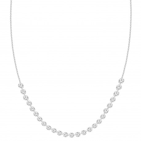 18K Laser hole Diamond Collar Necklace(2 ct)