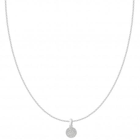 18K Fashionable Diamond Round Shaped Pendant