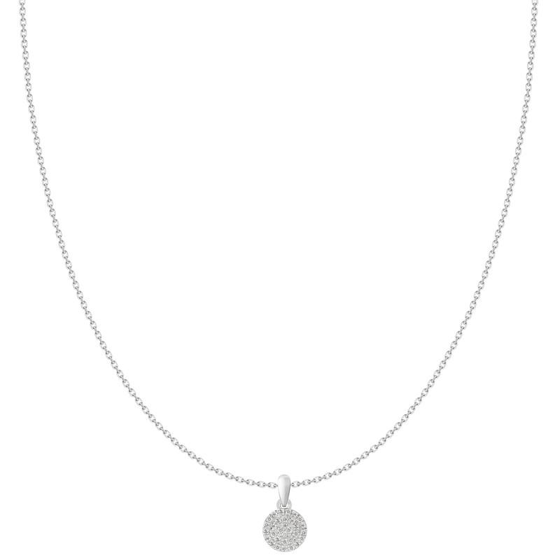18k fashionable diamond round shaped pendant unison 18k fashionable diamond round shaped pendant mozeypictures Image collections