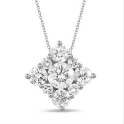 Diamond Square shaped Necklace(Medium)