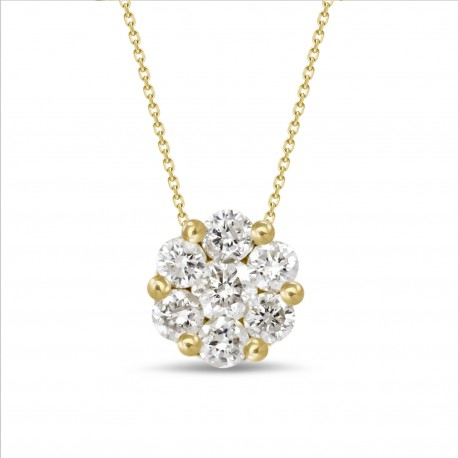 Diamond Round shaped Necklace(Small)