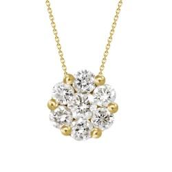 Diamond Round shaped Necklace(Medium)