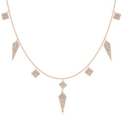 18K Multi-shape Dangling Fashionable Necklace