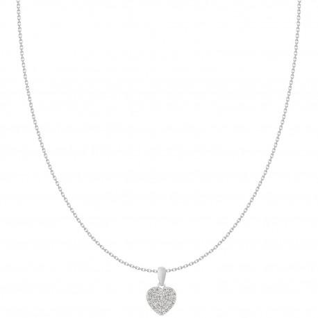Heart Shaped Micro-Pave Pendant