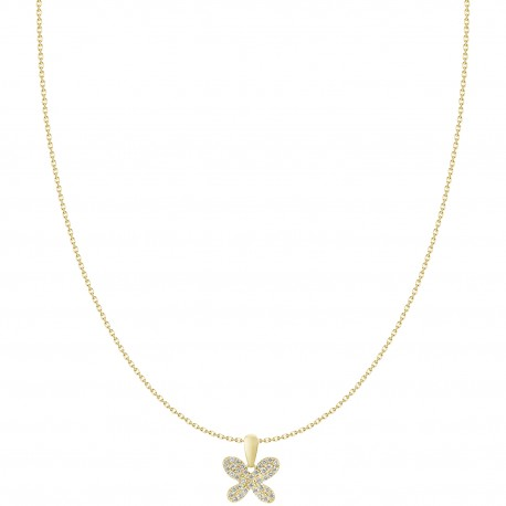 18K Butterfly Micro-Pave Pendant