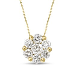 Diamond Round shaped Necklace(Large)
