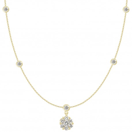 18K Diamond Hanging Necklace