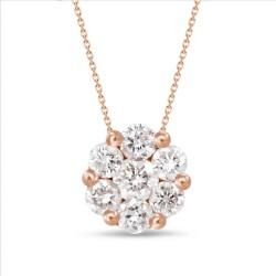 Diamond Round shaped Necklace(Large)