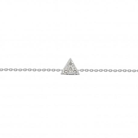 18K Simple Design Diamond Necklace