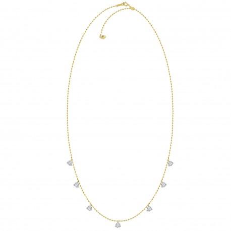 18K Laser Hole Dangling Diamond Necklace