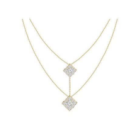 18K Double Chain Diamond Necklace