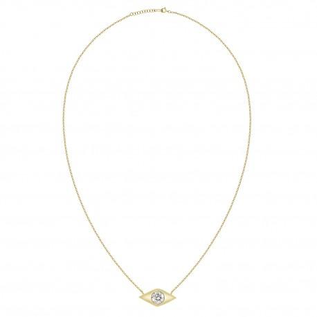 18K Solitaire Diamond Necklace