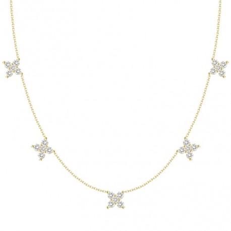 18K Butterfly Hanging Diamond Necklace
