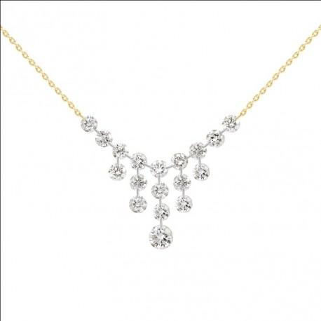 18K Laser Hole Diamond Necklace