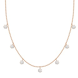 Diamond Station Necklace(Small)