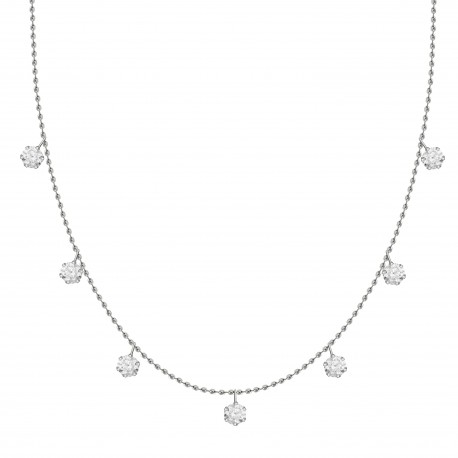 Diamond Station Necklace(Medium)