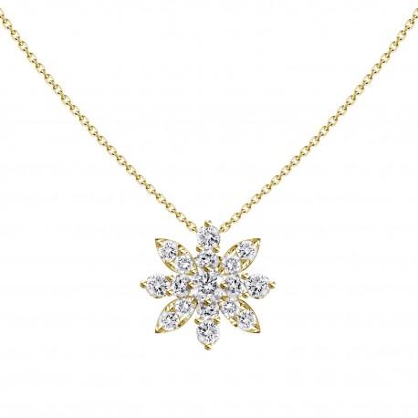 18K Anise Star Shape Diamond Necklace