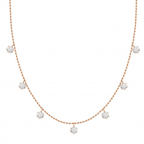 Diamond Station Necklace(Medium)