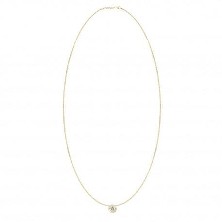 18K Diamond 0.1 Bezel Setting Necklace
