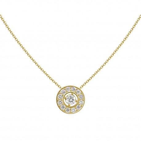18K Circle Shape Diamond Necklace