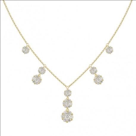 18K Dangling Diamond Necklace