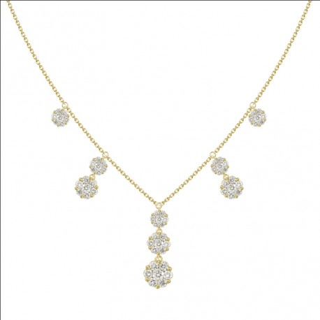 18K Dangling Diamond Necklace