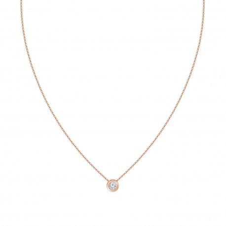 18K Diamond Bezel setting Necklace