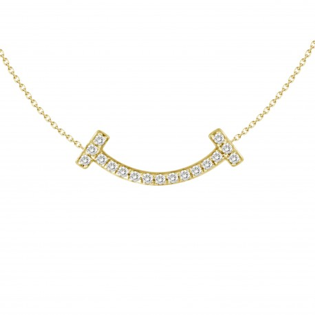 18K Smiling Diamond Pendant