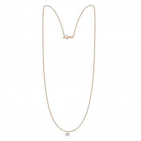Laser Hole Diamond 0.08ct Necklace