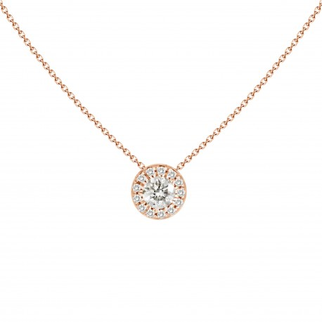 18K Round Shape Diamond Necklace