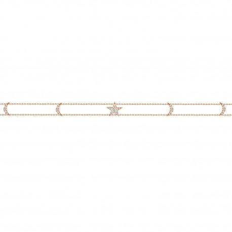 18K Star & Crescent Shape Diamond Choker