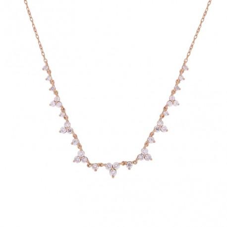 18K Multi-shape Diamond Necklace