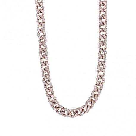 18K Link Diamond Necklace
