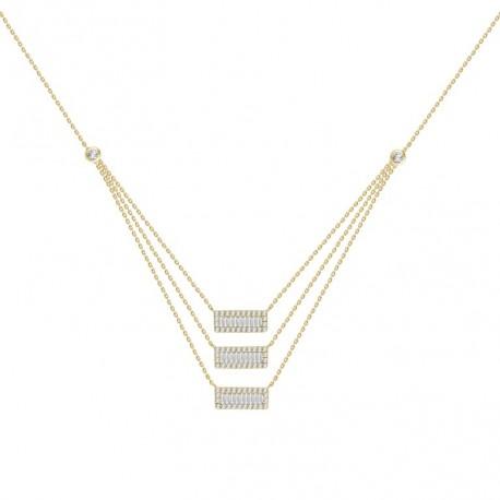 18K Diamond Fancy Shape 2 layer Necklace