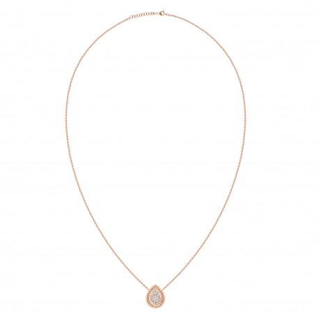 18K Pear Shape Diamond Necklace