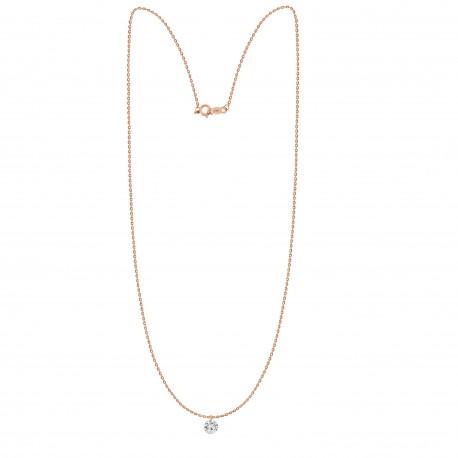 Laser Hole Diamond 0.15ct Necklace