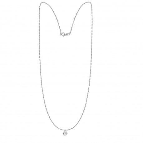 Laser Hole Diamond 0.25ct Necklace