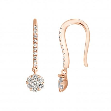 18K Round Shape Diamond Ear Cuff