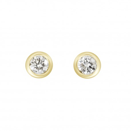 18K 0. 2 Bezel setting Diamond Earring