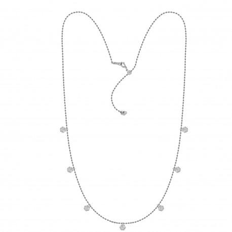 Diamond Round Pressure Setting Station Necklace(Medium)